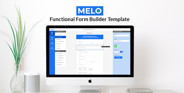 Melo Builder - Form Builder Interface HTML Template