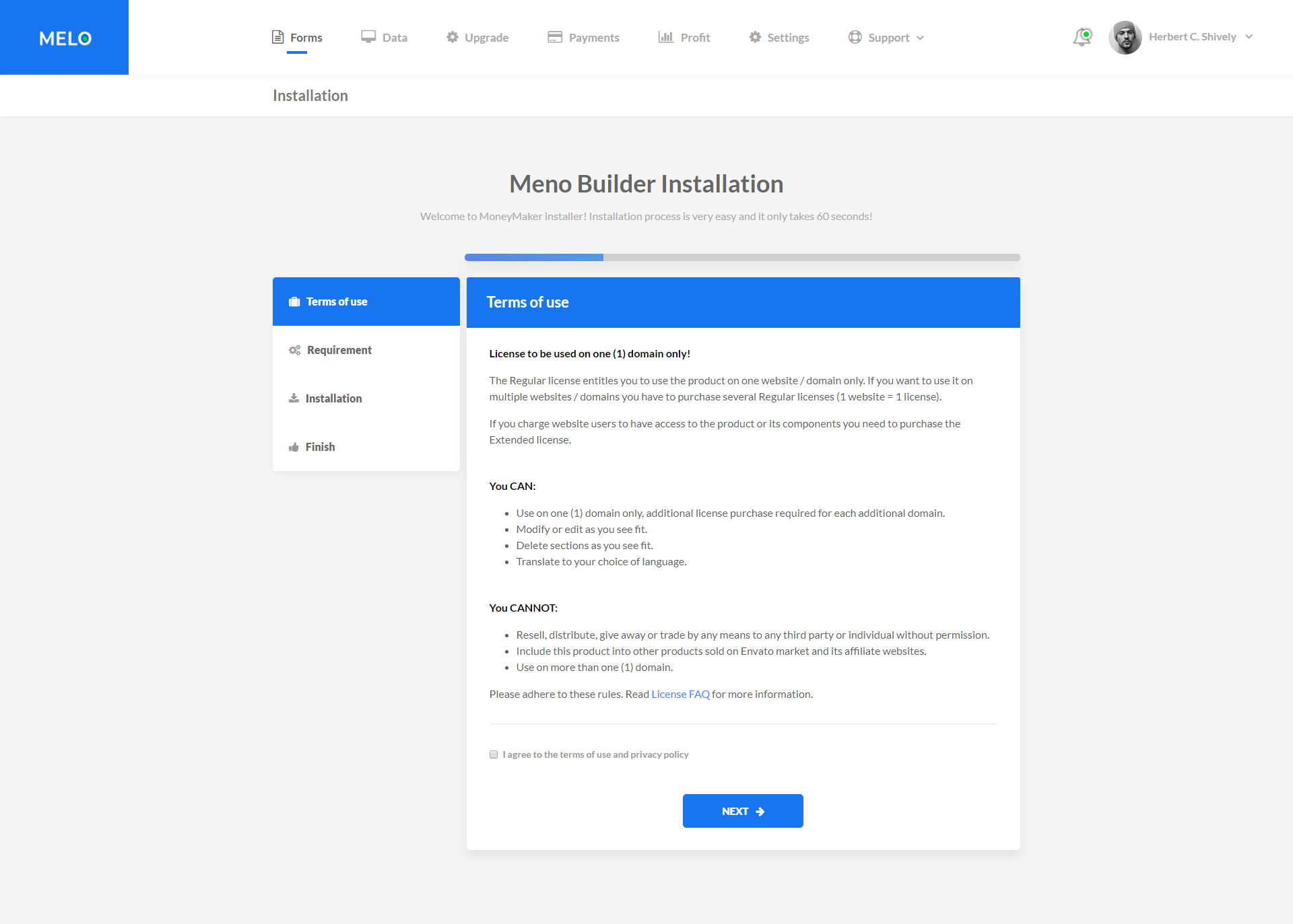 Melo Builder Form Builder Interface HTML Template By Melothemes - Privacy policy html template