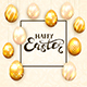 Golden Easter Eggs on Beige Background - GraphicRiver Item for Sale