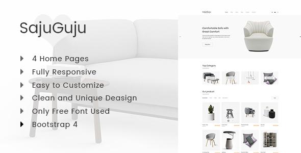 Sajuguju - Responsive Minimal eCommerce HTML Template - Retail Site Templates
