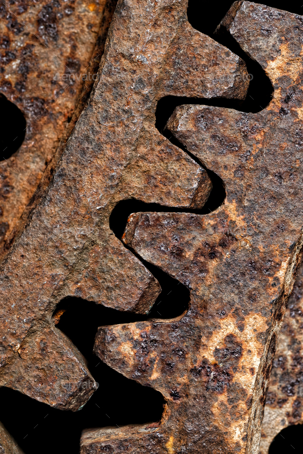 Old and rusty cogwheels - Stock Photo - Images