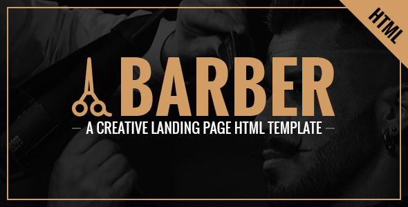 Image of Barber - A Creative Landing Page HTML Template