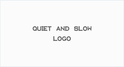 Quiet and Slow Logo