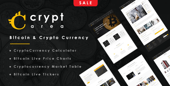Cryptarea - Bitcoin And Crypto Currency HTML Template - Business Corporate
