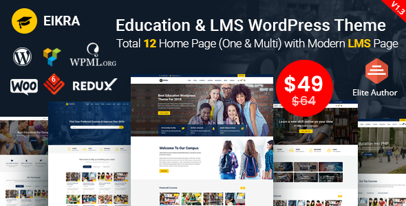 Eikra - Education WordPress Theme