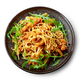 Plate of asian noodles with fried meat - PhotoDune Item for Sale