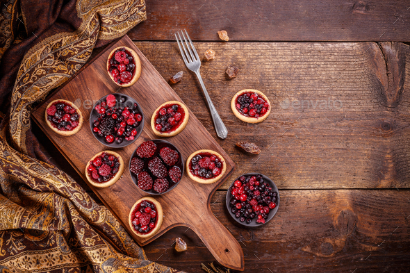 Fresh berry tartlets - Stock Photo - Images