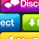 Vibrant Friendly Social Buttons - GraphicRiver Item for Sale
