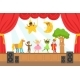Children Actors Performing Fairy-Tale On Stage On