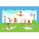 Young Children In Art Class Drawing And Painting - GraphicRiver Item for Sale
