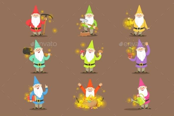 Classic Garden Gnomes  - Flowers & Plants Nature