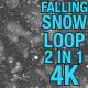 4K Falling Snow Pack 2 in 1 - VideoHive Item for Sale