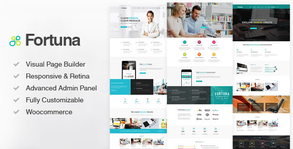 Fortuna - Responsive Multi-Purpose Wordpress Theme - Business Corporate