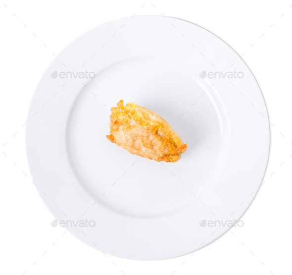 Delicious battered chicken fillet. - Stock Photo - Images