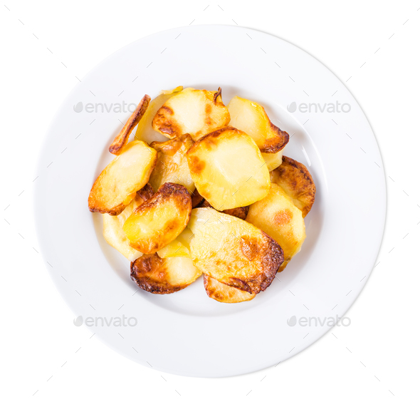 Traditional roast potatoes. - Stock Photo - Images