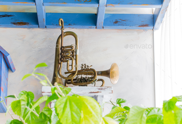 Two old saxophones. - Stock Photo - Images