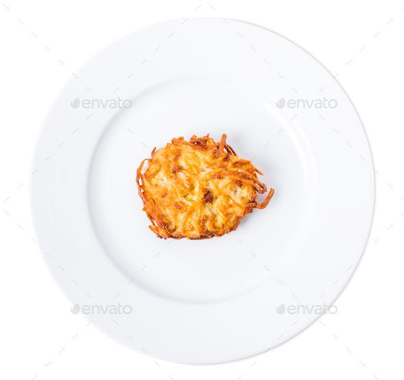 Fried potato pancake. - Stock Photo - Images