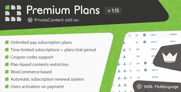 PrivateContent - Premium Plans add-on - CodeCanyon Item for Sale