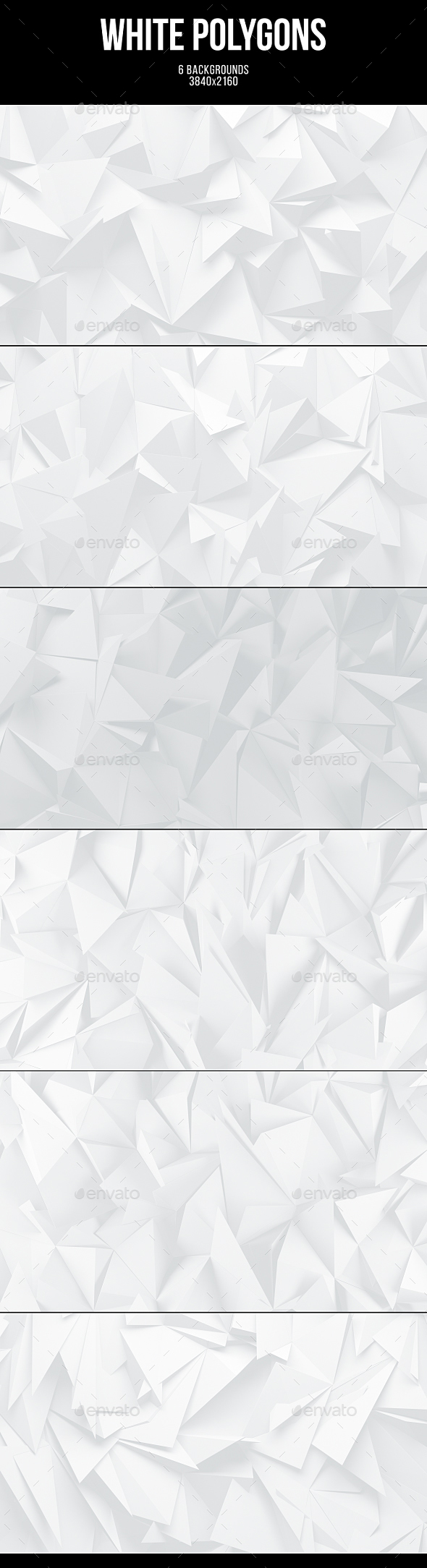 White Polygons Backgrounds - Abstract Backgrounds