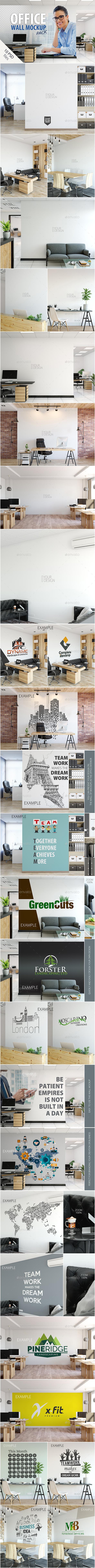 Office Wall Mockup Pack - Product Mock-Ups Graphics