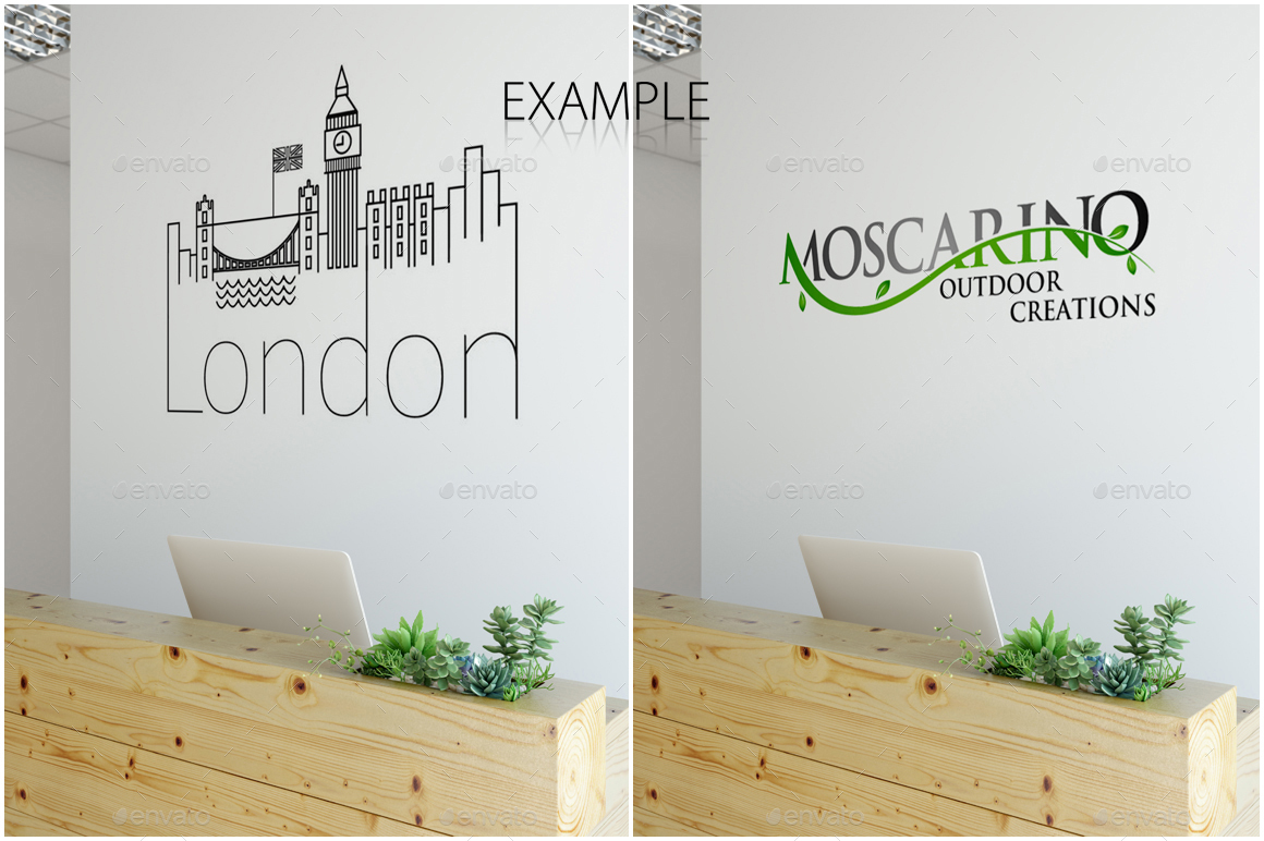 Office Wall Mockup Pack