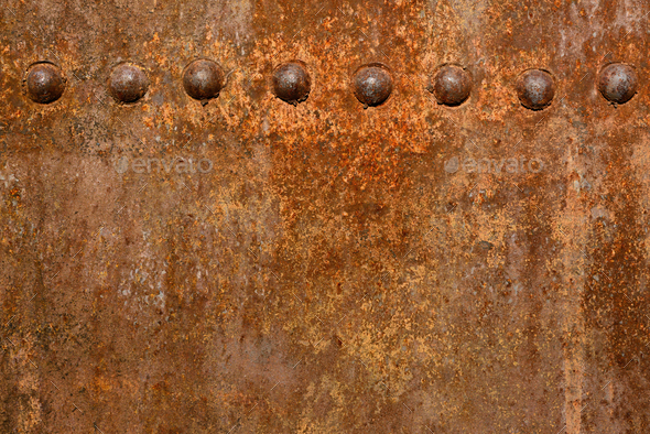 Rusty metal wall surface - Stock Photo - Images