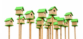 Green birdhouses - PhotoDune Item for Sale