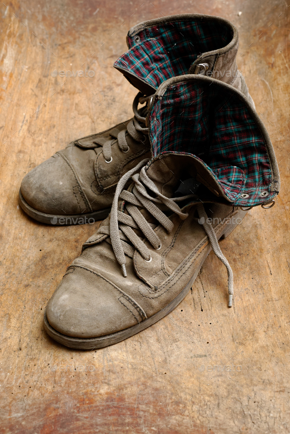Pair of old shoes - Stock Photo - Images