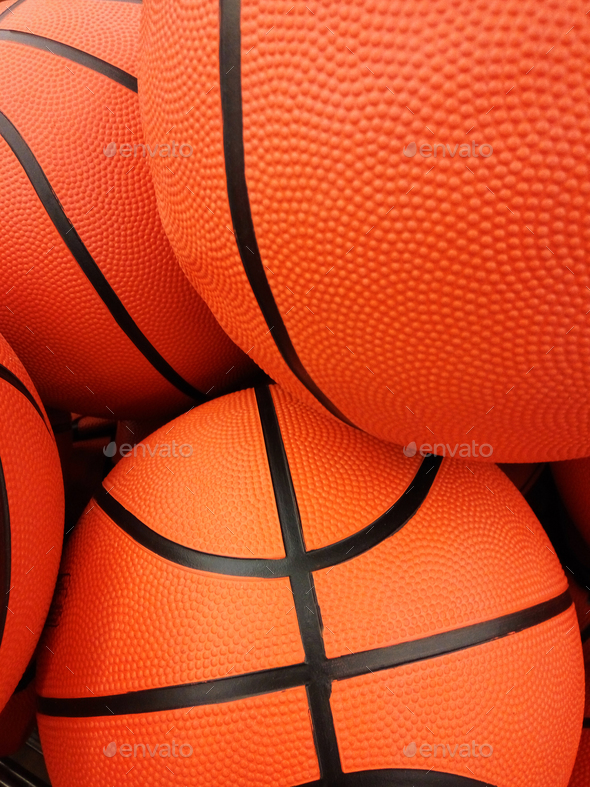 Orange basketball balls - Stock Photo - Images