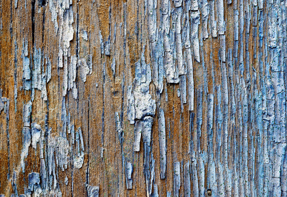 Old painted wooden plank - Stock Photo - Images