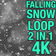 4K Falling Snow V2 Pack 2 in 1 - VideoHive Item for Sale