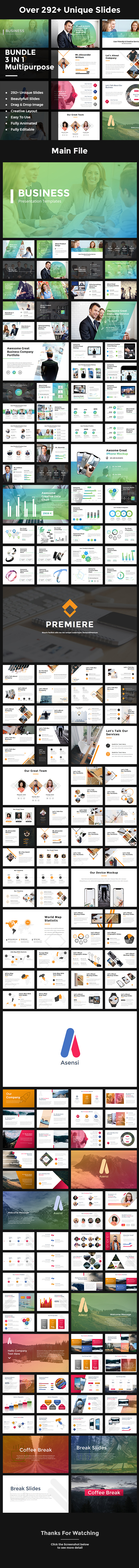 Bundle 3 in 1 Multipurpose Keynote - Keynote Templates Presentation Templates