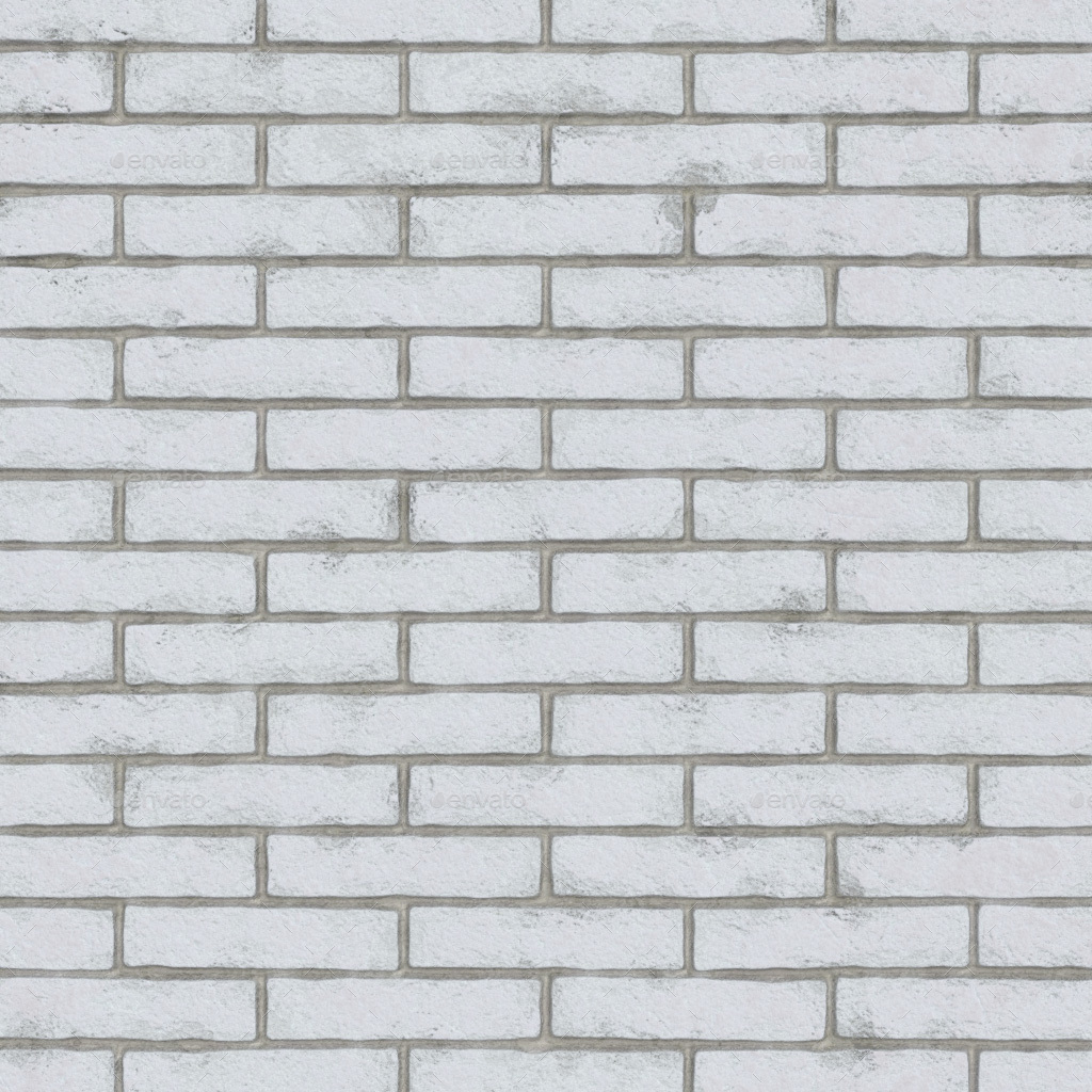 White Brick Wall Seamless Texture By Elue 3docean
