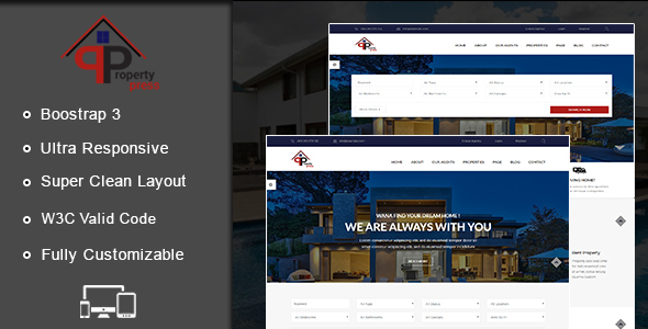 PropertyPress HTML Template - Site Templates
