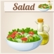 Fresh Salad with Olive Oil. Detailed Vector Icon - GraphicRiver Item for Sale