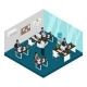 Isometric Indian Support Service Center Template - GraphicRiver Item for Sale