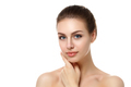 Portrait of young woman touching her face - PhotoDune Item for Sale