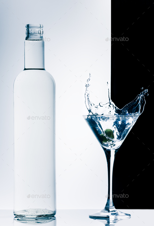 contemporary cocktail with splashes - Stock Photo - Images