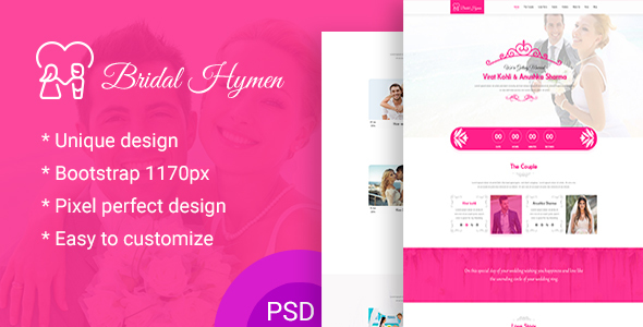 Wedding PSD Template - Experimental Creative
