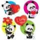 Valentine Day Vector Set with Panda Bears