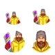 Vector Pop Art Avatar of Snowboarder
