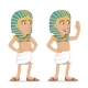 Egyptian Character Salute Hand Greeting Icon - GraphicRiver Item for Sale