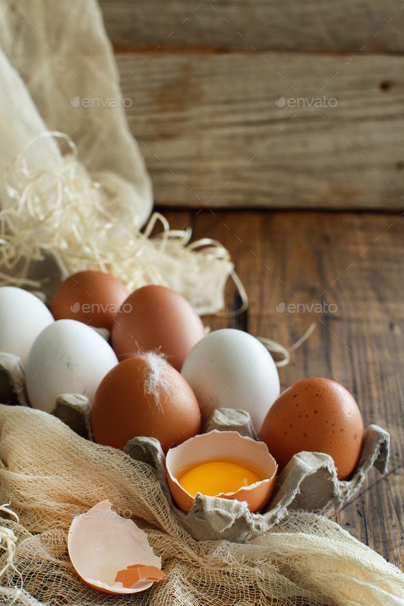 Сhicken eggs close up - Stock Photo - Images