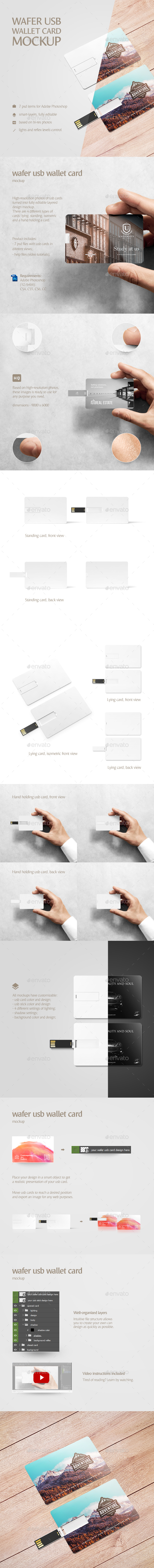 Wafer USB Wallet Card Mockup - Miscellaneous Print