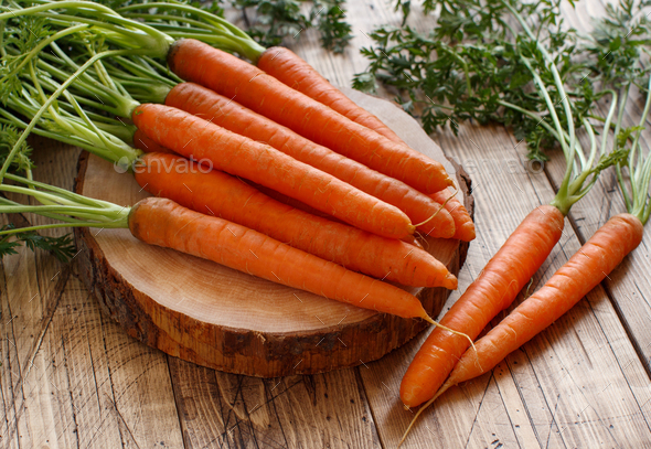 Fresh raw carrots - Stock Photo - Images