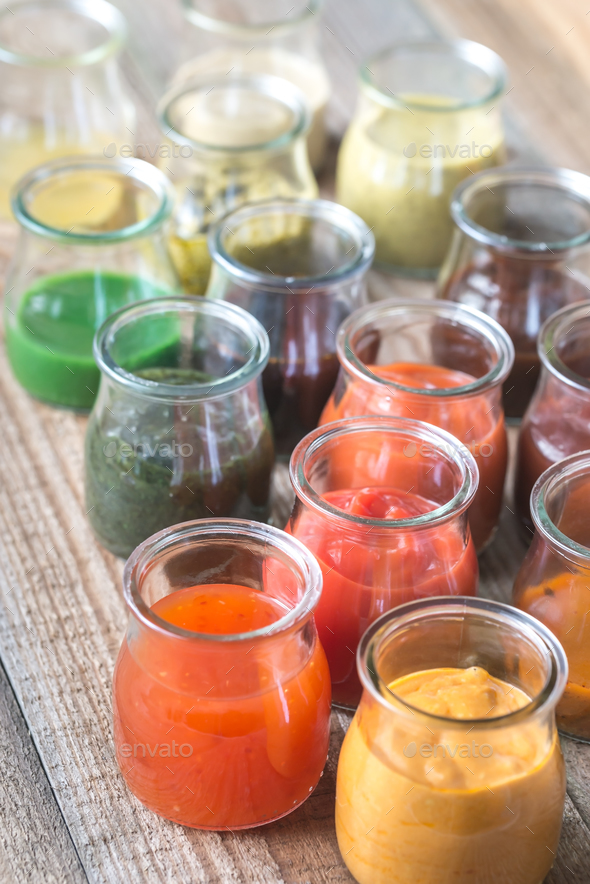 Assortment of sauces  - Stock Photo - Images