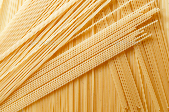 Close up view of dry spaghetti - Stock Photo - Images