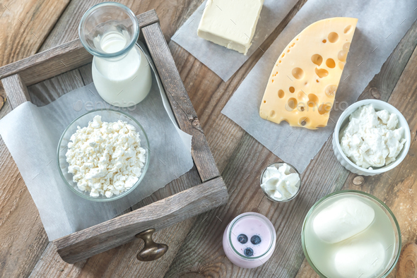Assortment of dairy products - Stock Photo - Images