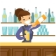 Bartender Making a Cocktail - GraphicRiver Item for Sale