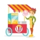 Street Seller Selling Cotton Candy - GraphicRiver Item for Sale